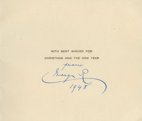 autograph 1011903 1948 christmas card from britain s queen mary