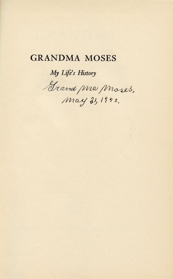 Grandma Moses Signature Grandma Moses
