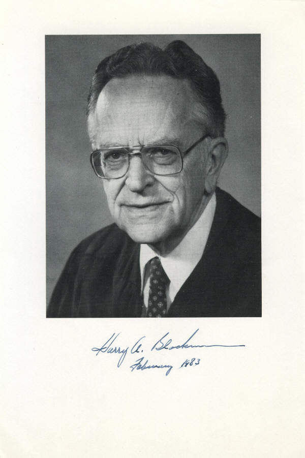harry andrew blackmun essay The late justice harry blackmun meticulously kept a mountain of files during his 24 years on the supreme court, including notes on the 1973 'roe v wade' decision that he wrote five years to the day after his death, 1,576 boxes of blackmun's papers and 38 hours of tapes of his oral history are.