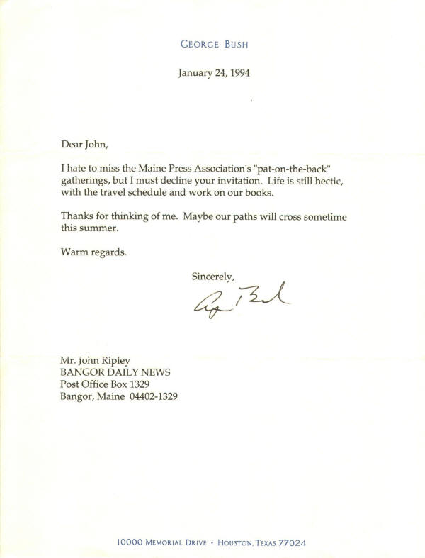 Autograph 911702 president george h w bush typed letter autograph 911702 president george h w bush typed letter signed 1 24 1994 thecheapjerseys Image collections